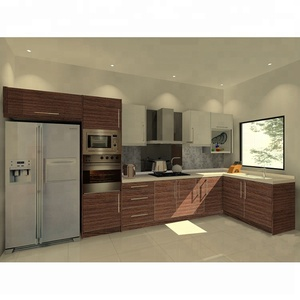 modern european style kitchen cabinet designs furniture 2 layers shelves wall cabinet with glass door