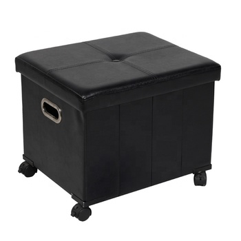 Leather Ottoman Folding Stool