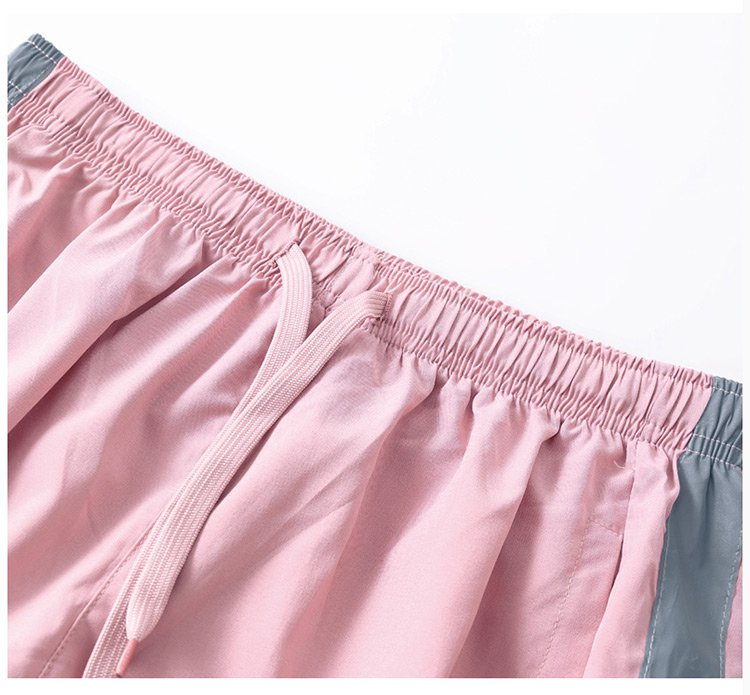 Side Stripe Girl Sport Pants Female 9 Cent Thin Paragraph Small Foot Casual Pants