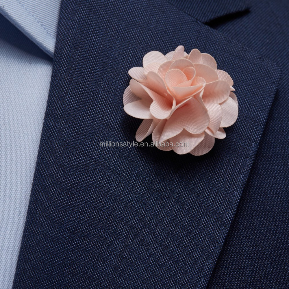Mens lapel flower Boutonniere, lapel pin sticks