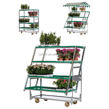 Wire Carts With Wheels | 4 Wheels Movable Wire Carts Trolley For Garden Greenhouse Buy