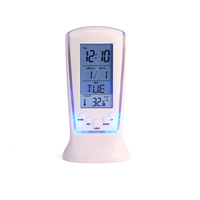 Indoor LCD Smart Ce Room Thermometer Temperature Timer Display Digital Calendar Clock and Weather Station Clock