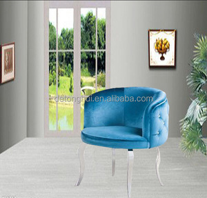 WY-301Living Room Furniture Stainless steel and soft lint Fashion leisure arm chair