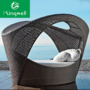 Garden furniture sofa chair outdoor beach rattan bali swimming pool sunbed day bed