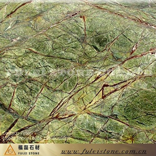 Rain Forest Green Marble : Pietra naturale granito marmo verde foresta pluviale