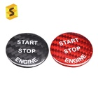 ES Car Interior Accessories Start Stop Engine Button For BMW Carbon Fiber Parts