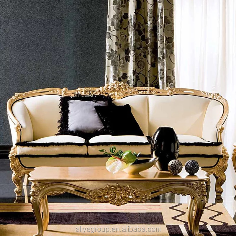 Neoclassic Apricot Solid Wood Carved Gold Sofa Sets For Living Room  Furniture - Buy Sofa Sets For Living Room,Apricot Sofa Sets For Living ...