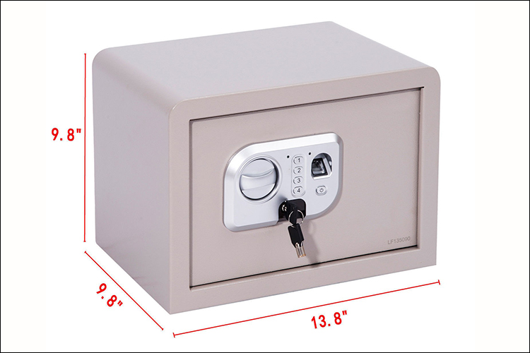 "13.8"" Fingerprint Digital Electronic Gun Safe Box w/ Keypad Lock Security"
