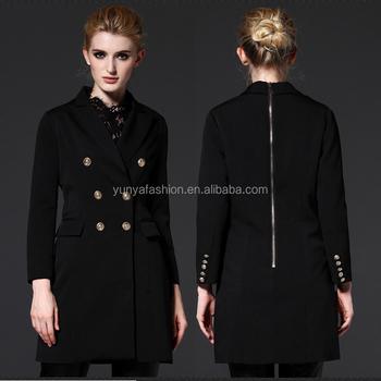 5f4a9eb5dada Black Blazer For Women Solid Double Breasted Ladies Blazer Designs