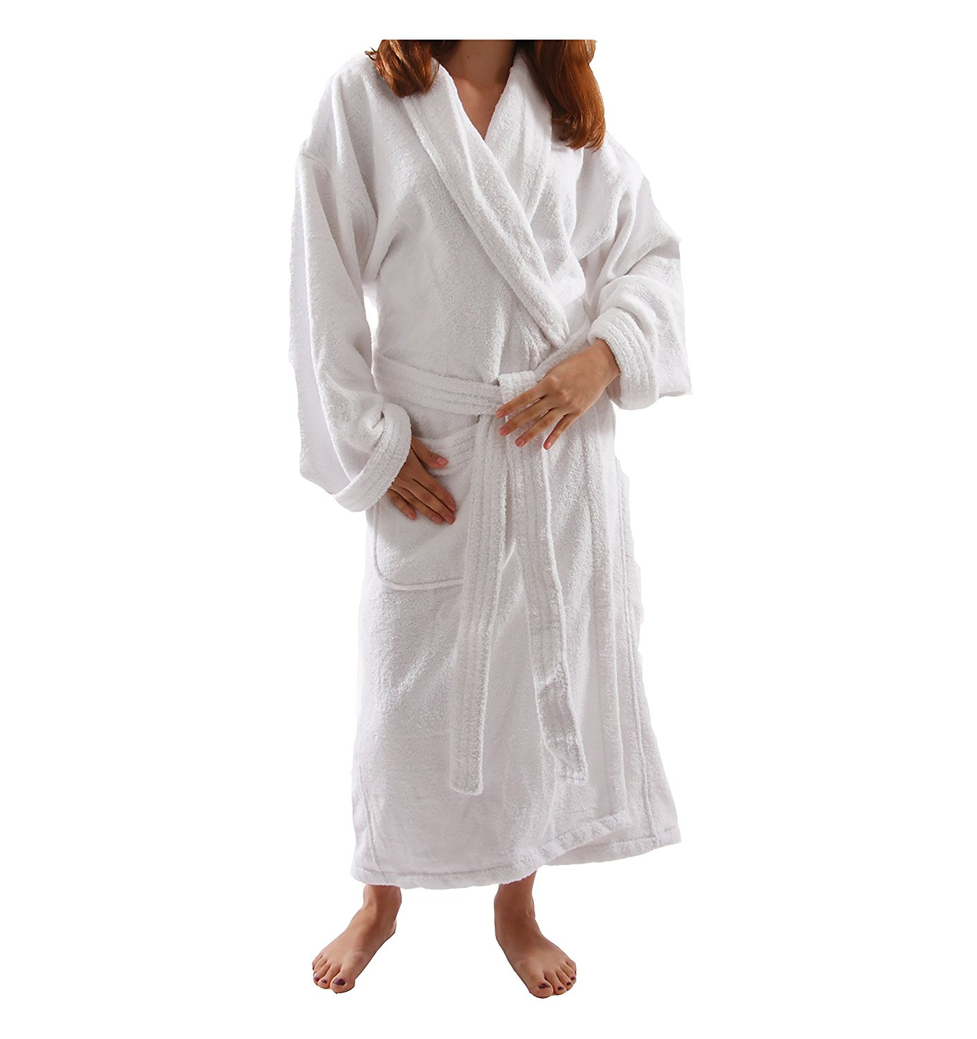 Get Quotations · Womens Terry Velour Bathrobe 48 Inch Length 65919cc32