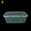 Microwave clear disposable pp plastic food container with lid