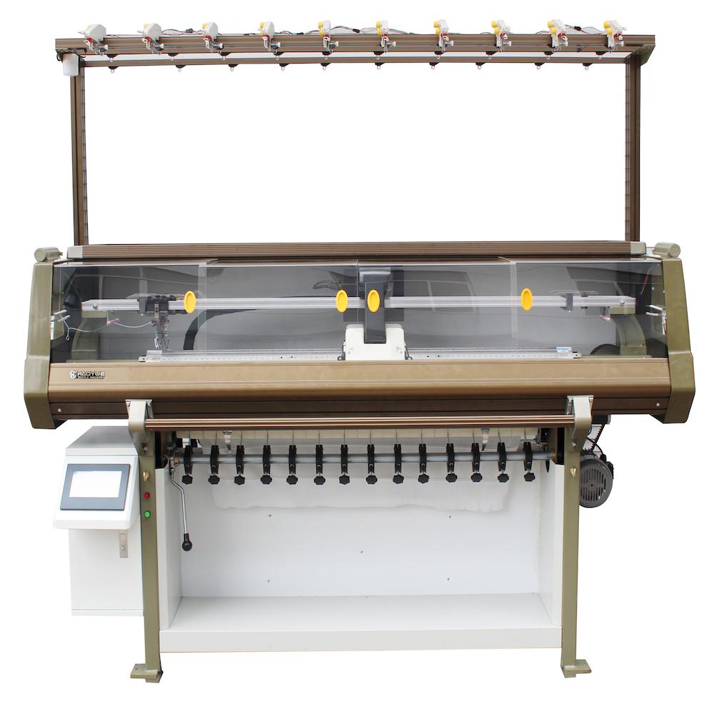 Computer collar flat knitting machine