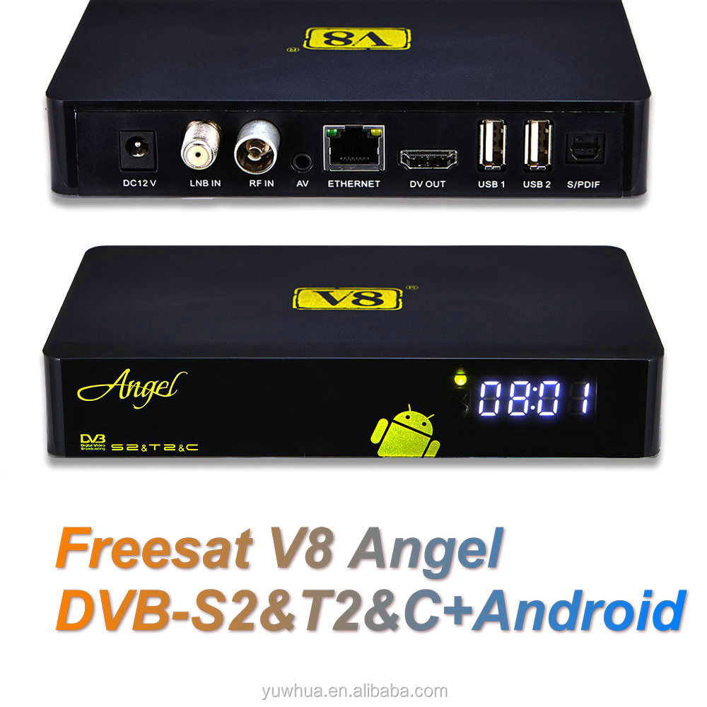 decoders free to air <strong>hd</strong> V8 Angel dvb-s2 dvb-t2 <strong>satellite</strong> <strong>receiver</strong> dvb-s2 <strong>mpeg4</strong> <strong>hd</strong> <strong>receiver</strong> Android 4.4 OTT IPTV box