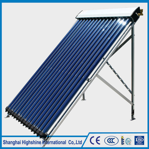High quality long duration time 20 tubes heat pipe solar water collector Pressurized Heat Pipe Solar Thermal Collector