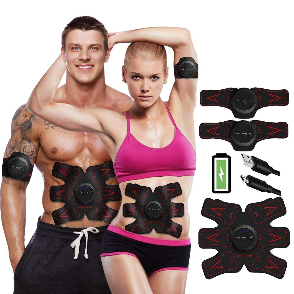 Ultimate Abs Stimulator Rechargeable Abs Stimulator - Ab Trainer for Men Women Abdominal Work Out Abs Power Fitness Abs Muscle Training Gear ABS Workout USB Charger