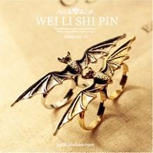 LZ Jewelry Hut R111 R112 The 2016 New Fashion Punk Bat Adjustable Zinc Alloy Rings For