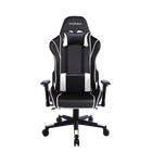 Executive Swivel Leather Gaming Chair, Racing Style High-back Office Chair With Lumbar Support and Headrest (White)