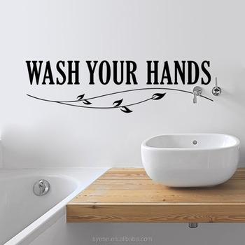 3d wall art toilet wall tiles designs art vinyl quotes wash your