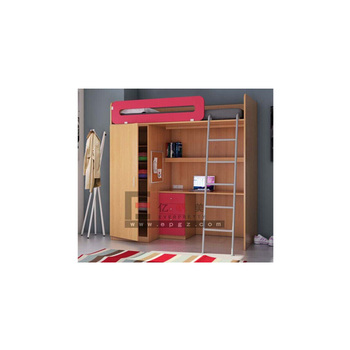 Latest Design Wood Bunk Bed Funky Bunk Bed Kid Bed With Wardrobe And