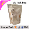 YASON stand up aluminum foil seed packaging square bottom gusset coffee ziplock bags small tabacco plastic