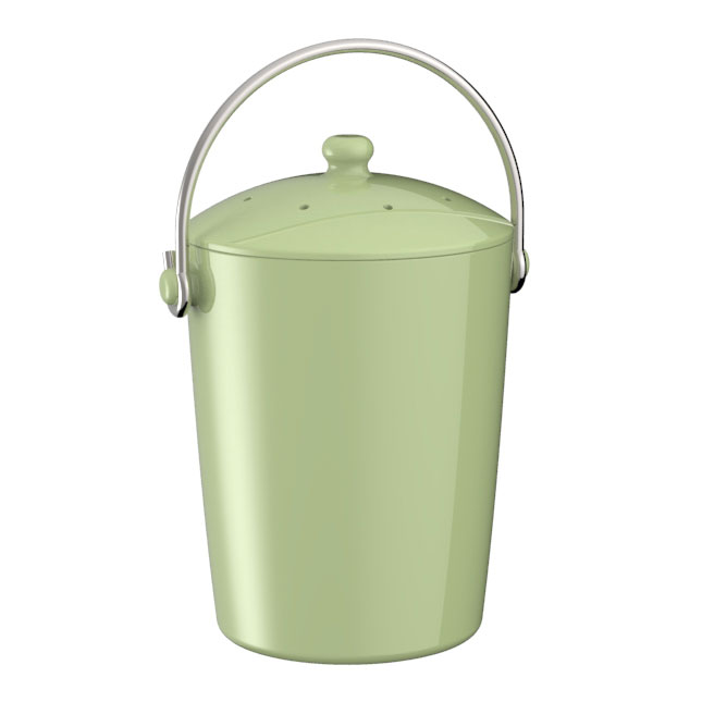 Ceramic compost pail with filter