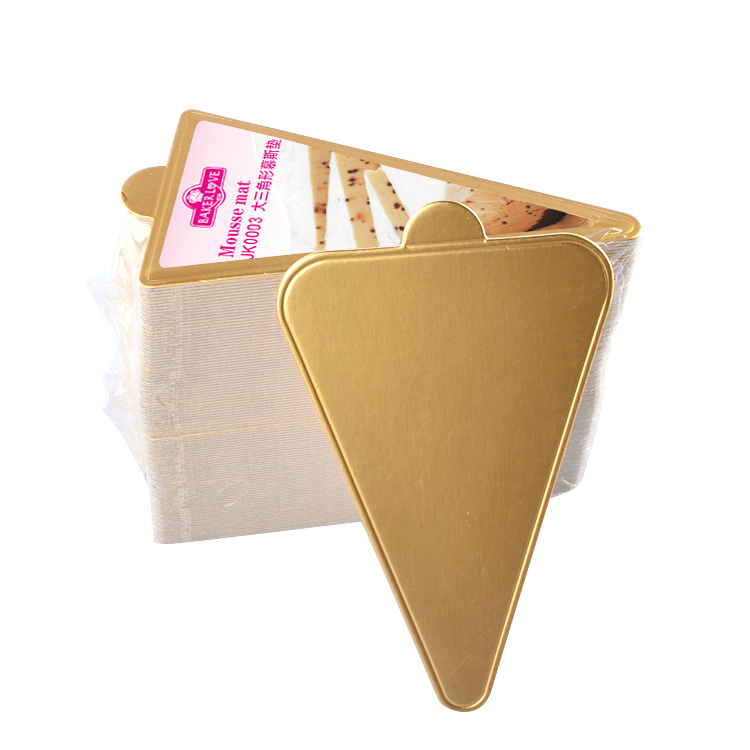 JK0003 Large Golden Triangle Paper Base Cake Cardboard Mousse Mat
