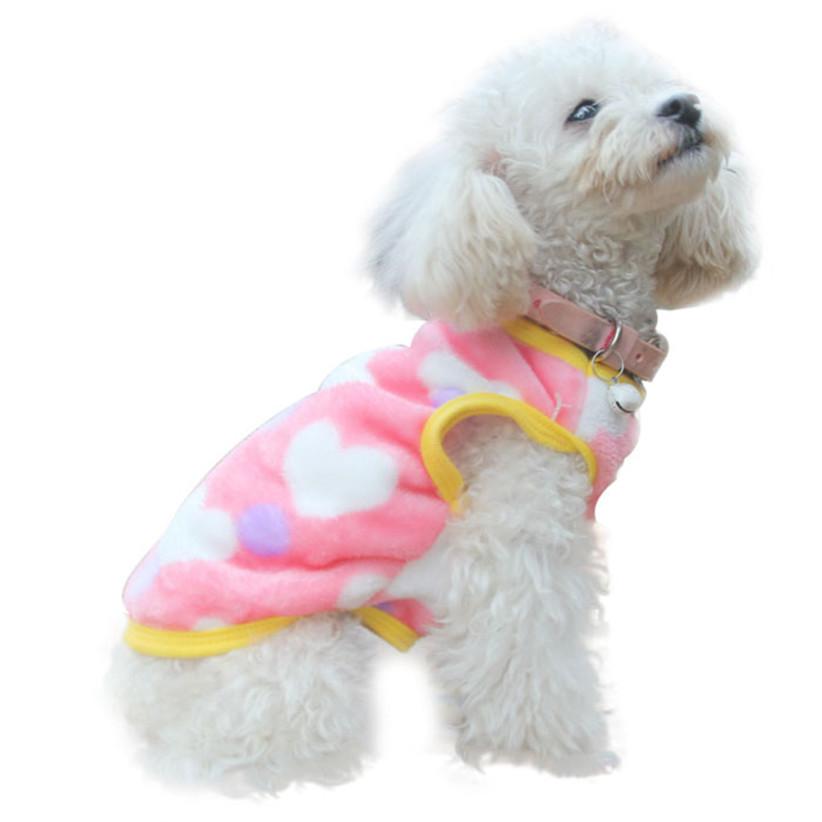 Недавно дизайн теплый одежда для собак мягкая домашние животные собаки леопарда жилет зимнее пальто мягкие одежды July21