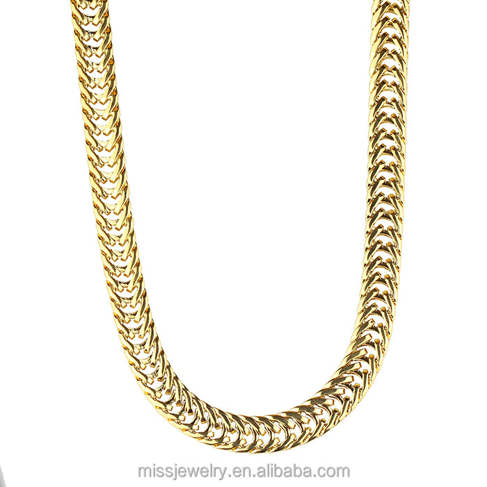 Different Types Of Men Fashion 18k Italian Gold Plated Chain Necklace In Dubai 14k 18k Gold Rose Gold White Gold Gun Black Matte Black Buy At The Price Of 79 99 In Alibaba Com Imall Com