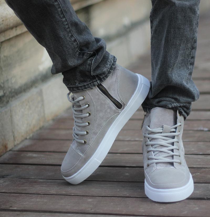 Sneakers Mens Top Grey High Grey XTwPOkZiu