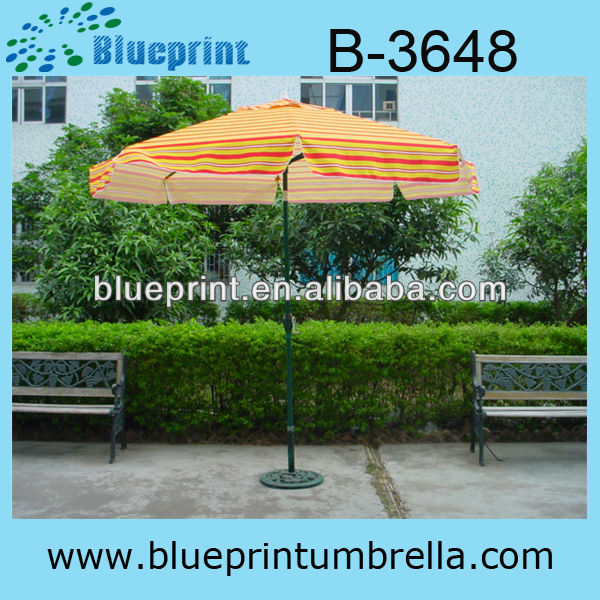 High quality windproof umbrella and rattan table chair