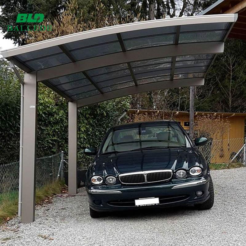 Curved Roof Design Aluminium Carports With Polycarbonate Sheet Cover Buy Aluminium Carports Polycarbonate Carport Carport Product On Alibaba Com