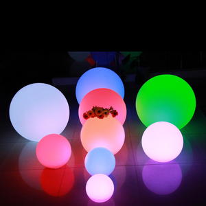 custom sizes remote control rgb color changing rechargeable waterproof illuminated ball light led swimming pool glow balls