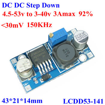 48v To 24v 12v 5v Dc-dc Step Down Converter Circuit 4 5-53v To 3-40v  3avoltage Regulator Reducer Module - Buy 48v To 24v Step Down Converter,48v  To