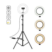 3200-5500 K Stand Statief 10 Inch Led <span class=keywords><strong>Ring</strong></span> <span class=keywords><strong>Licht</strong></span> Voor Live Broadcasr Video Phoot Schieten