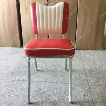 Retro American 1950s Style Vintage Industrial Diner Metal Chair, Retro 50s  American Diner Chair For
