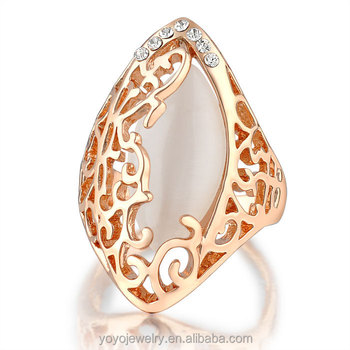 Big stone gemstone design light weight gold ring for men View