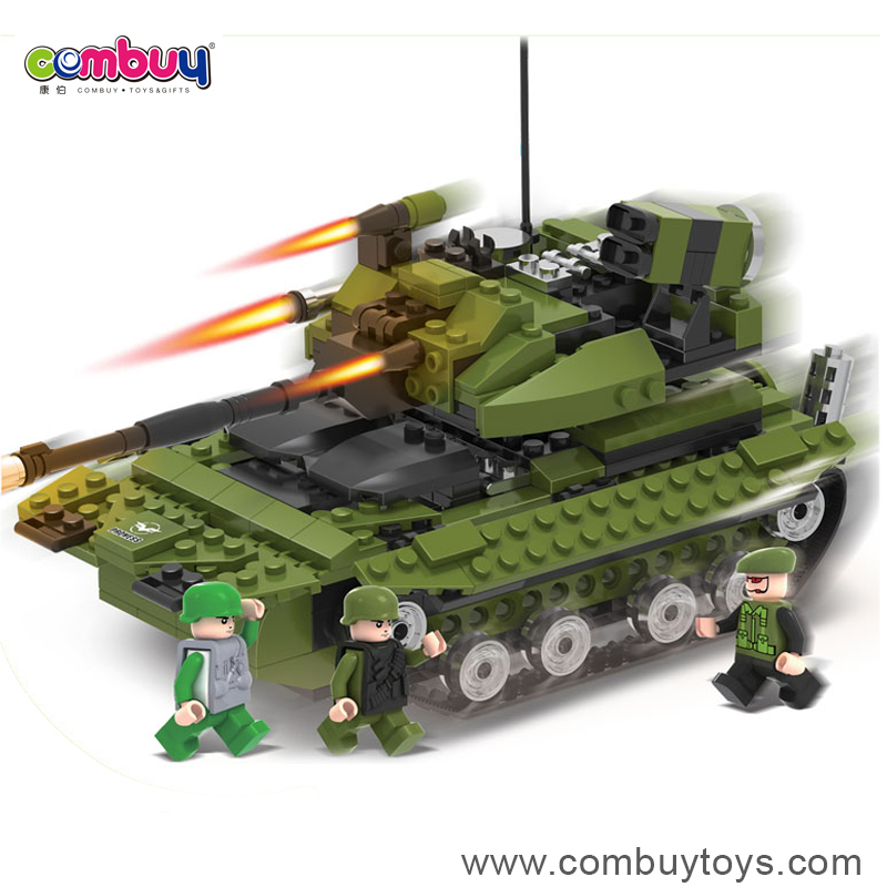 Creative diy military set building blocks mini plastic tank toy