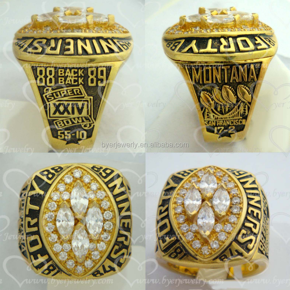 Replica world super bowl 1989 San Francisco 49ers NFL sports replica championship ring