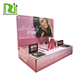 Attractive cardboard counter display paper floor stand for cosmetics