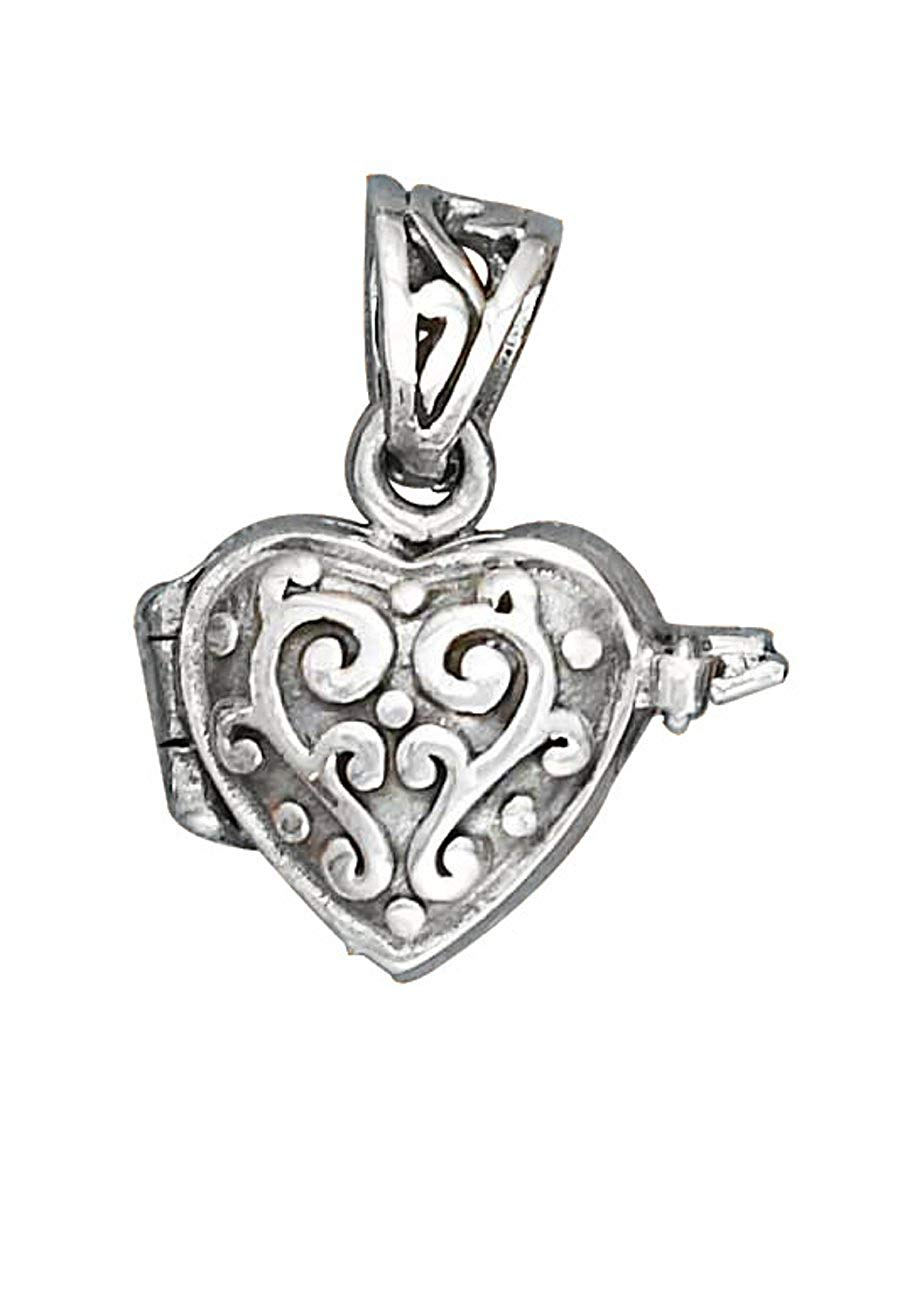 Sterling Silver Girls .8mm Box Chain Matron Of Honor Heart Pendant Necklace