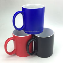 11oz Hot Selling Ceramic Sublimation Blank Black Heat Sensitive Magic Color Changing Mug
