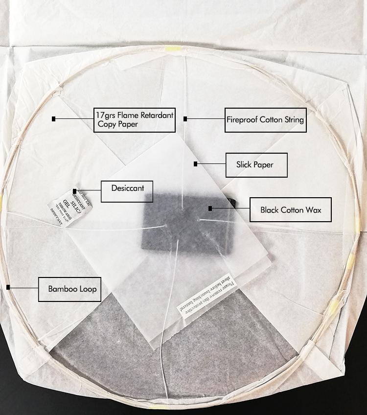 100% Biodegradável Chinês Lanterna do Céu De Papel Retardante De Fogo
