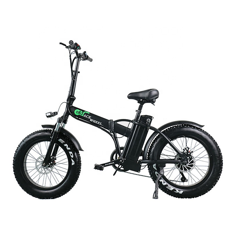 Europe warehouse fat tire electric bike with removable battery for adult, Black/white