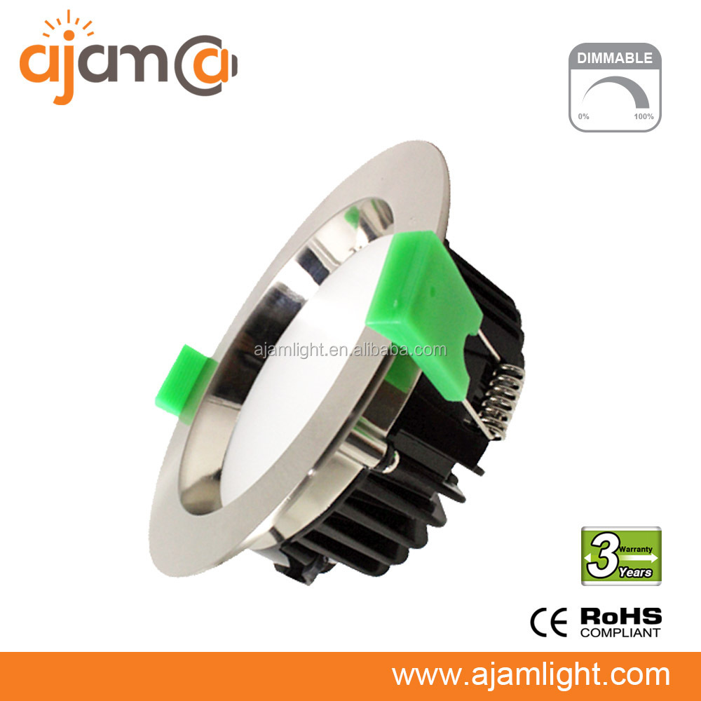 silver round smd led downlight dimmable 6in led dowlight