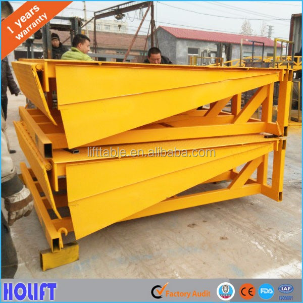 Heavy duty 6-10ton stationary hydraulic loading yard ramp/container unloading equipment