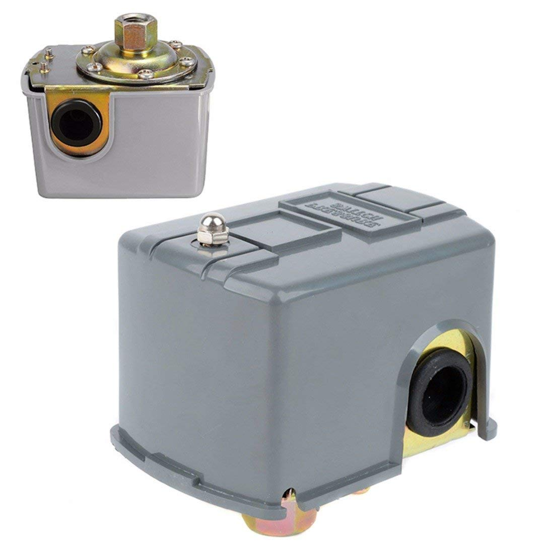"""ERTIANANG Water Pump Pressure Control Switch 40-60psi Adjustable Double Spring Pole Switches For 1/4"""" NPT"""