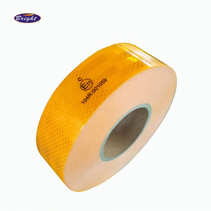 Yellow White Red Ece 104 Reflective Tape Waterproof For Trailers