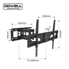 High quality 90 degrees swivel lcd led tv wall mount bracket