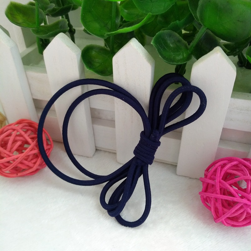 Korean version of the simple bow knot leather suitcase ring hair band rubber band jewelry