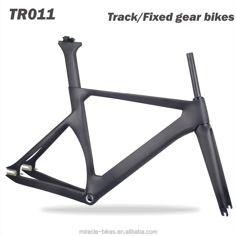 Miracle track bike fixed gear bicycle frame with high quality T700 toray carbon fiber